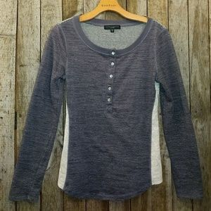 Sanctuary blue gray Henley top small